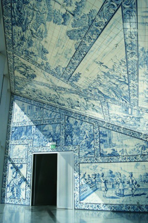 Casa da Música, Portugal, their blue and white tile is beautiful!