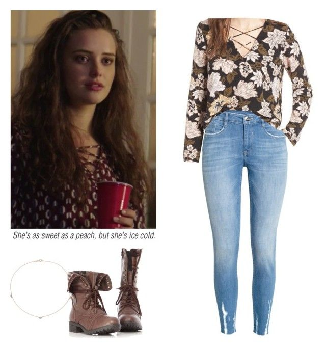 Hannah Baker - 13 reasons why / 13rw by shadyannon on Polyvore featuring polyvore fashion style Leith H&M Catbird clothing