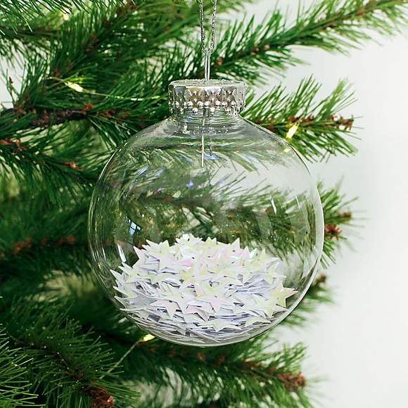 Iridescent Stars Bauble Dunelm Christmas Decorations Christmas Bulbs Iridescent