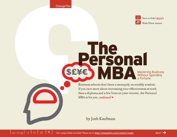 11 best books read or thinking of reading images on pinterest the personal mba mastering business without spending a fortune by josh kaufman fandeluxe Choice Image