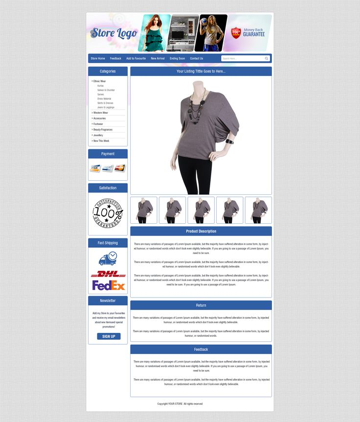 9 best Clothing eBay Listing Templates in UK images on Pinterest - sample product description template