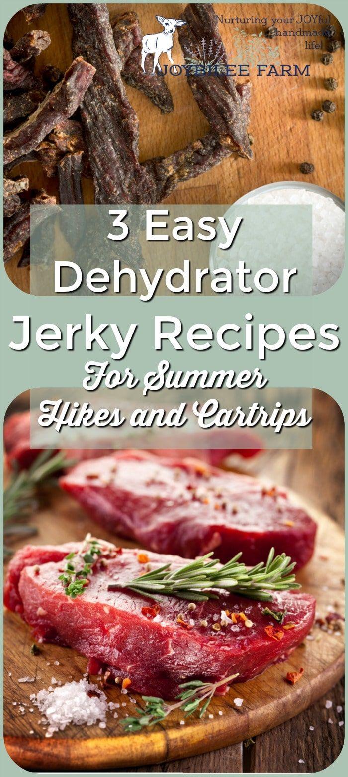 3 Easy Dehydrator Jerky Recipes For Summer Hikes And Car Trips Recipe Jerky Recipes Beef Jerky Recipes Jerky Recipes Dehydrator