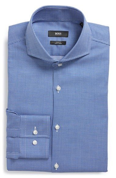 BOSS 'Dwayne' WW Slim Fit Easy Iron Check Dress Shirt available at #Nordstrom