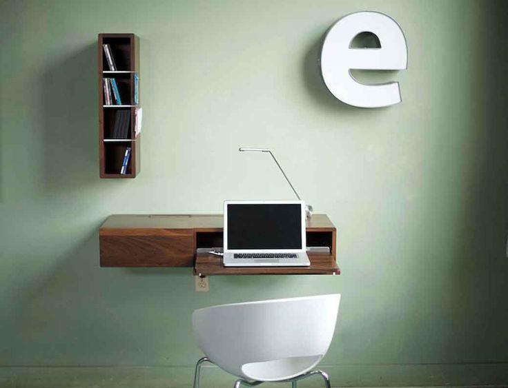 unique computer desk design. Marvelous Small Bookshelf Design With Wall Mounted Computer Desk Idea And White Chair Also Unique