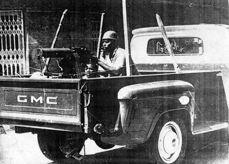 Dominican Rebels 1950's truck with a old M1919 machinegun