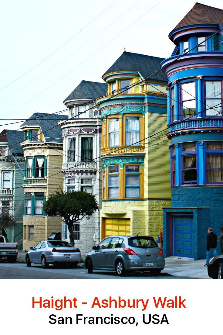 Enjoy a leisurely stroll through the neighborhood of Haight Ashbury in San Francisco, admiring the colorful Victorian and Edwardian homes, browsing the eclectic mix of stores and stopping for a spot of lunch in an organic café or restaurant or in one of the bars that dot the area.