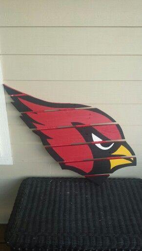Arizona Cardinals pallet sign