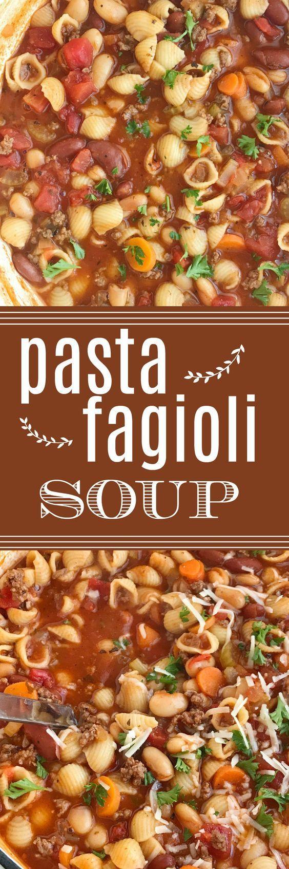 Pasta Fagioli Soup   Olive Garden Copycat Fagioli Soup   Soup   One Pot   Soup Recipes   Together as Family #souprecipes #recipeoftheday #pastafagiolisoup #pastafagiolisouprecipes