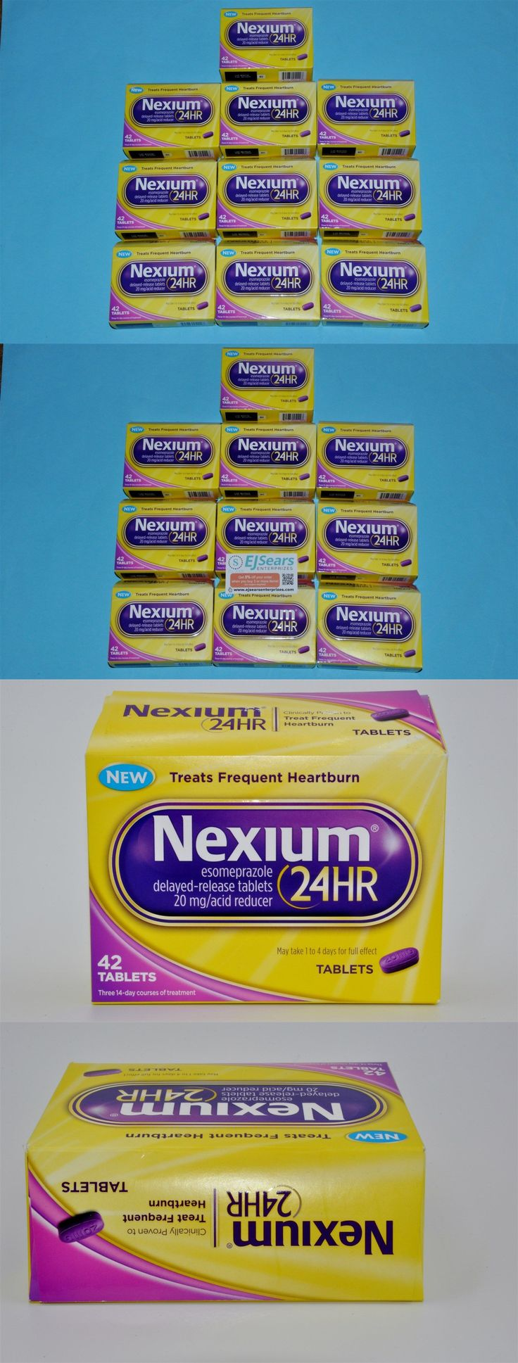 Digestion and Nausea: Nexium 24Hr 20Mg 420 Tablets 42Ct X10 Heartburn Relief Exp 2017 Esomeprazole BUY IT NOW ONLY: $159.93