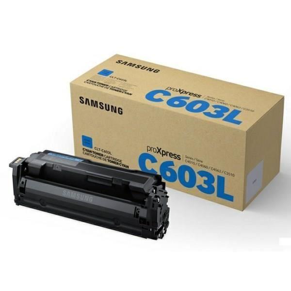 Cartouche de toner cyan haut rendement Samsung CLT-C603L (SU080A) pour SL-C4010ND/ SL-C4060FX