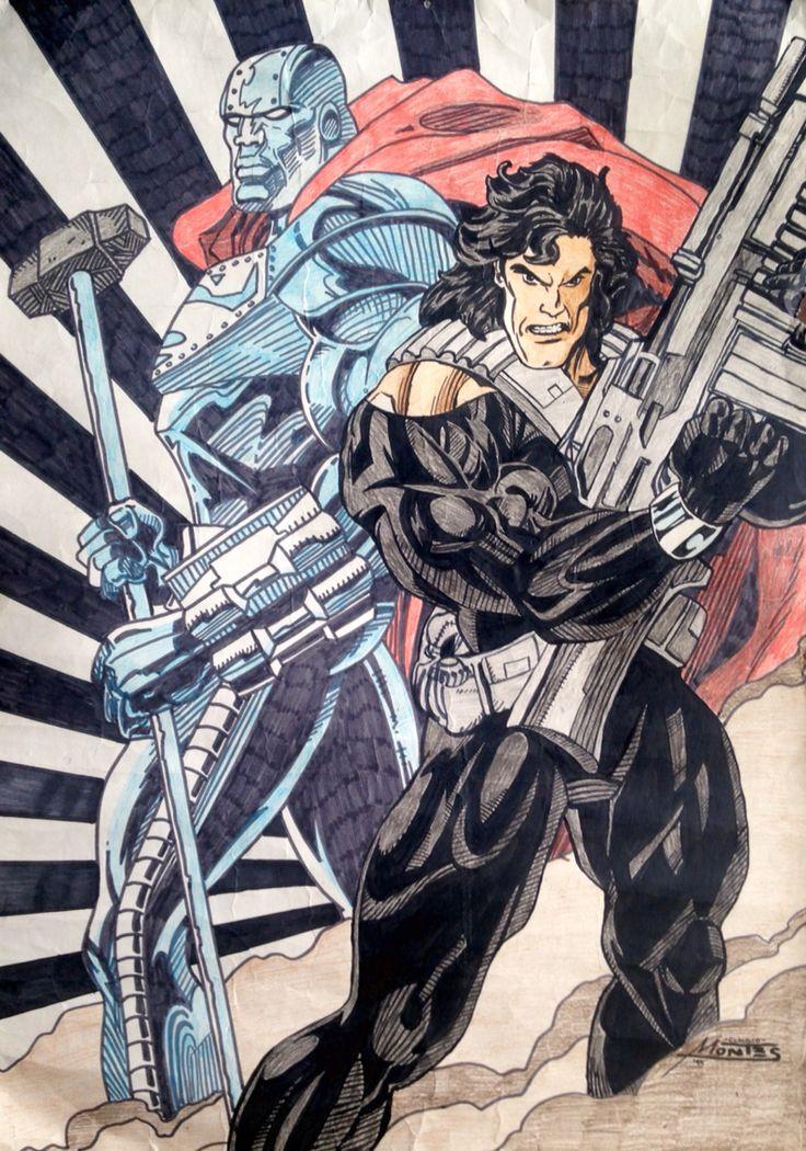 Superman illustration from 1995.