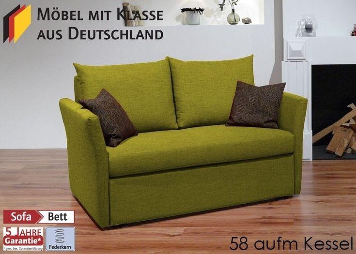 Schlafsofa Till Gästebett Bettsofa Schlafcouch Bettcouch Grün 3126. Buy now at https://www.moebel-wohnbar.de/schlafsofa-bettsofa-sofa-mit-funktion-gruen-3126