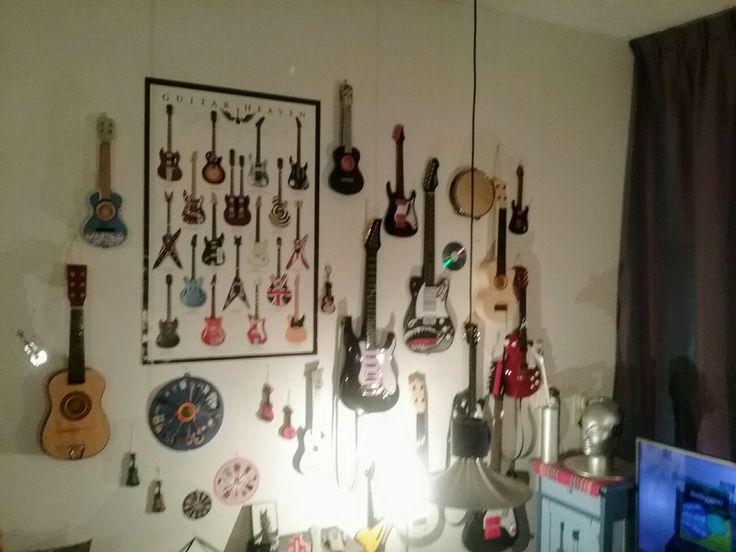 Mijn gitaarmuur 🙄