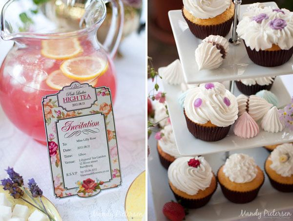 Vintage High Tea Free Printables, instructions for adding your wording