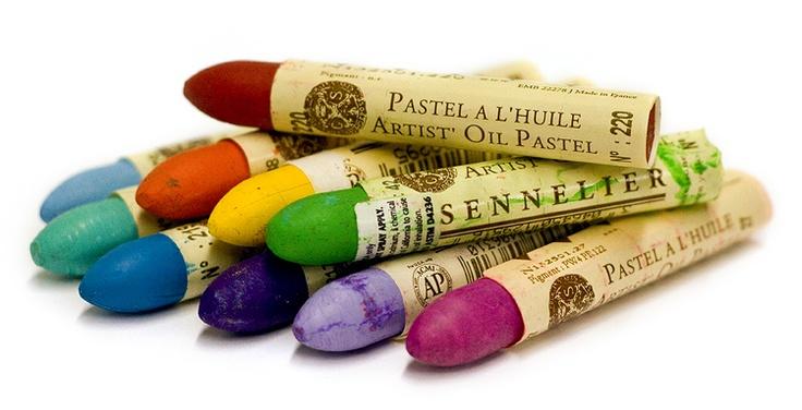 Sennelier Oil Pastels. Exquisitely smooth & creamy bright colours. #sennelier #oil #pastel #artsupplies