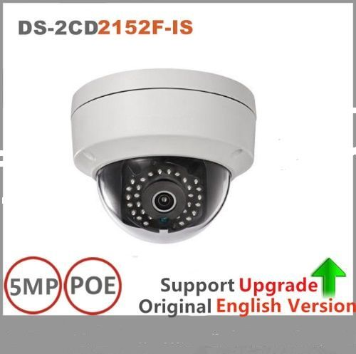 Hik*vision Original English version DS-2CD2152F-IS H.264+ 5MP fixed dome network cctv camera IP66 ip security camera