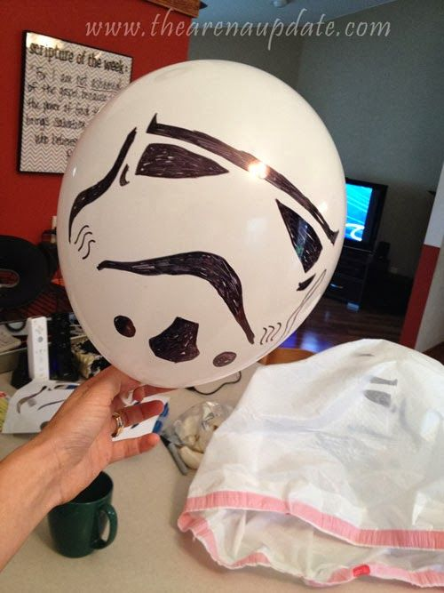 Stormtrooper Balloons - FREE PRINTABLE PATTERN  Arena Five: An Epic Star Wars Party with Minimal Effort