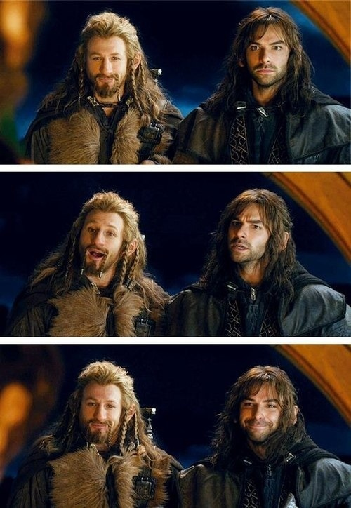 "The moment when the door onpens and I was thinking, ""Oh crap! Why do they have to die?!?!. Okay, you are NOT going to fall in love."" Moments later... ""I LOVE Fili and Kili!"""