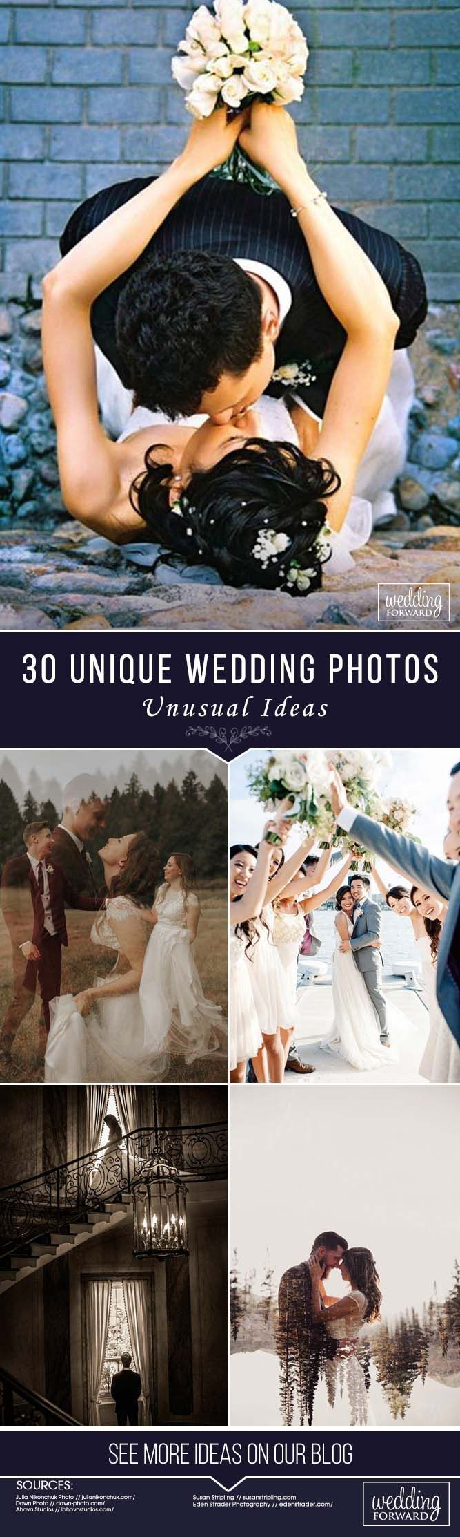 30 Unique Wedding Photos ❤ See more:  http://www.weddingforward.com/wedding-photos/  #weddings #photography #unique