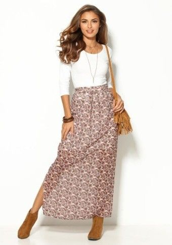 Dlhá sukňa s rázporkom #modino_sk #modino_style #skirt #longskirt #style #fashion #lovefashion