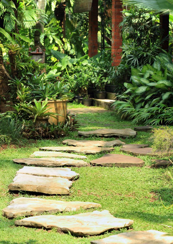 Use stone slabs to build a walking path throughout your property.