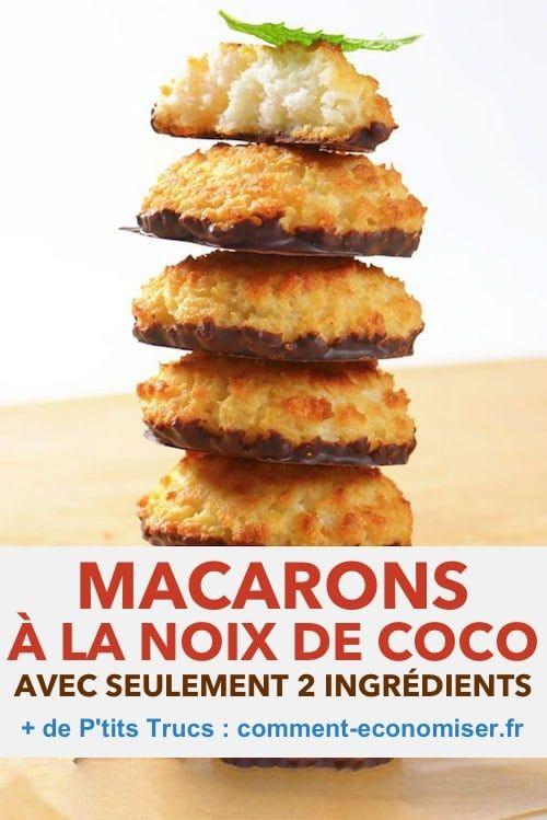 Facile et Pas Chère : La Recette des Macarons à la Noix de Coco avec Seulement 2 Ingrédients !