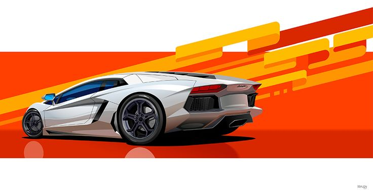 Lamborghini Aventador Car Art Pinterest