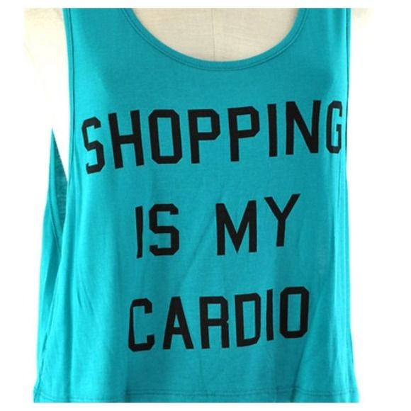 Shopping is my cardio crop tank New, jade cropped tank top. Please let me know what size you will need when purchasing! Tops Tank Tops