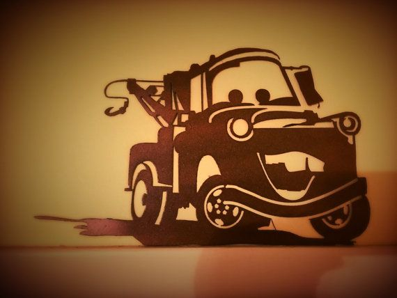 Disney Cars Movie, Tow Mater Metal Wall Art Decor, Nursery