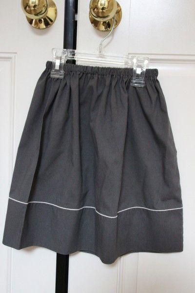 make skirt from a preloved pillowcase