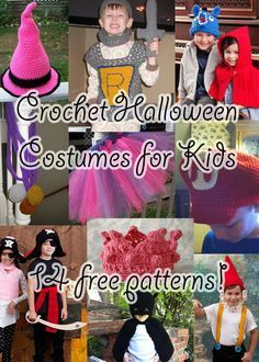 Free Crochet Halloween Costume Patterns for Kids on mooglyblog.com - lots of links, ideas, and inspiration!