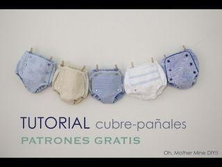DIY Tutorial cubre pañal o braguita bebe: como hacer paso a paso estos cubrepañales o braguitas para bebe. Los patrones los tenéis disponibles y gratis en el blog. En este blog de costura y diy vamos
