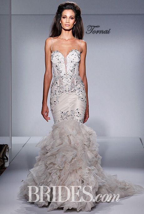 New Brides Pnina Tornai for Kleinfeld Wedding Dresses Fall Bridal Runway Shows