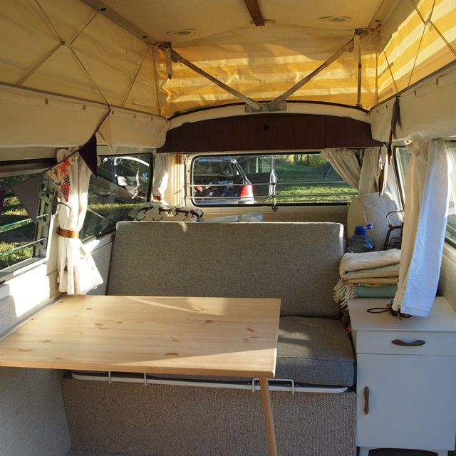 Junkaholique our vw camper van is finished camper van for Vw kombi interior designs