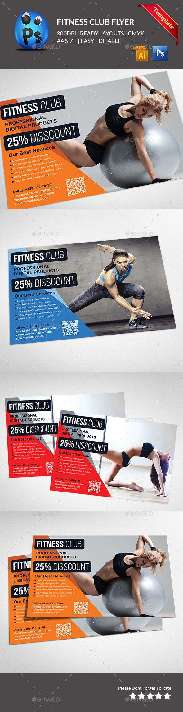 Fitness Flyer - Gym Flyer - Sports Events
