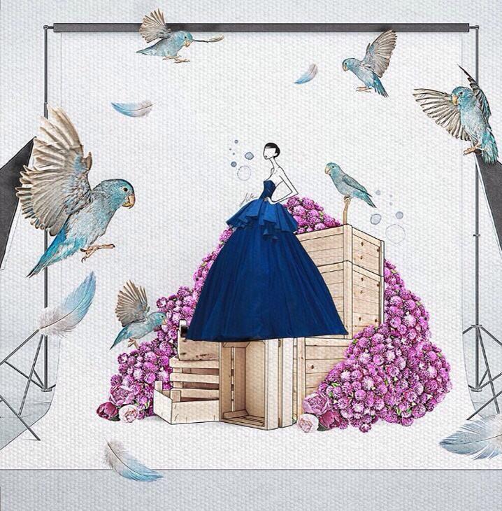 Tony Ward Ready to Wear Spring Summer 2015 beautifully illustrated by talented artist JaeSuk Kim