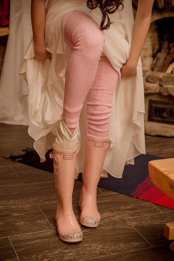The cutest winter wedding footwear!   Photos by Miss Ann