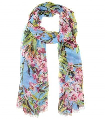 #DolceGabbana Floral-print scarf