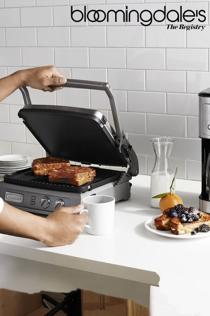 Make breakfast a sweet experience with #Cuisinart! For on-the-go greatness, swap your typical panini bread with French toast and add Nutella and bananas. Speaking of sweet –– complete $500 or more of Cuisinart products on your Bloomingdale's registry and receive a free gift!