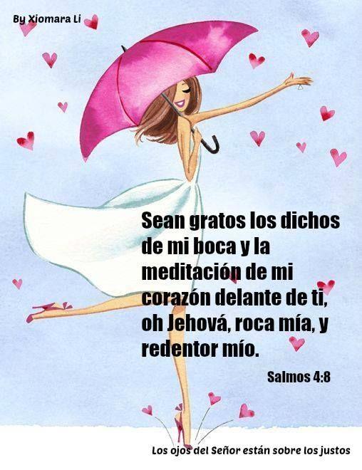 Salmos 19:14 Sean gratos los dichos de mi boca y la meditación de mi corazón delante de ti, Oh Jehová, roca mía, y redentor mío.♔