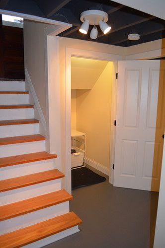unfinished basement ceiling flat black basement