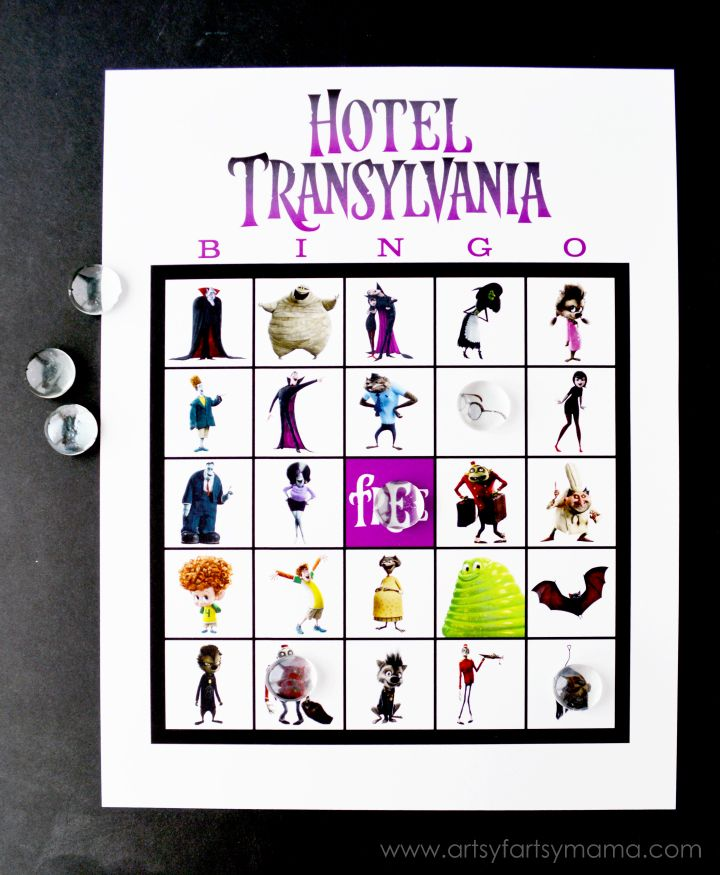 Hotel Transylvania is one of our favorite movies to watch, especially at Halloweentime. Hotel Transylvania 2 is just as spectacular as the first, and introduces some fun, new characters. Since we can't possibly be the only ones who love Hotel Transylvania, I've created a free printable Hotel Transylvania Bingo for you all to play! Hotel Transylvania Bingo includes all of your favorite charac...