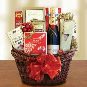 Champagne Celebrations Birthday Gift Basket, Champagne Gift Basket by California Delicious for $99
