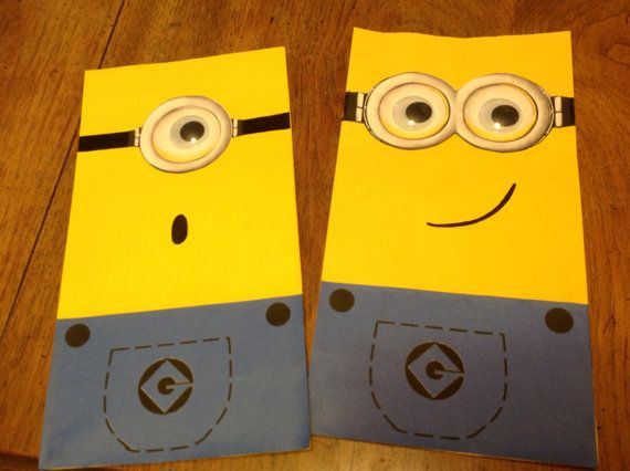 Despicable Me Birthday Party Minion Treat Goody Bags by Live4Bling, $16.00