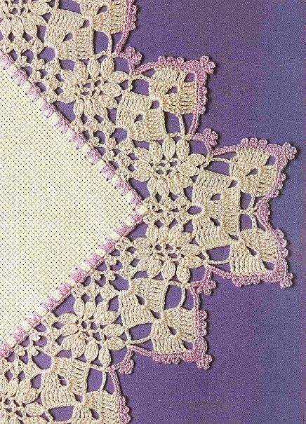 crochet edging. dainty. beautiful. lots here