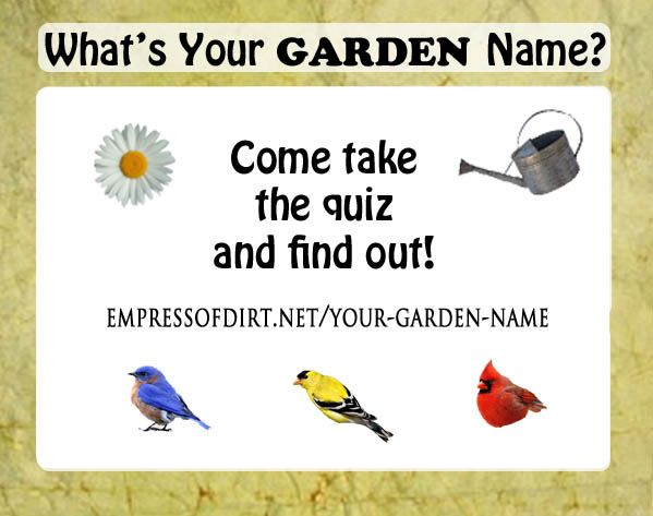Hello, my garden name is Daisy O'Watering Can. Come find ...
