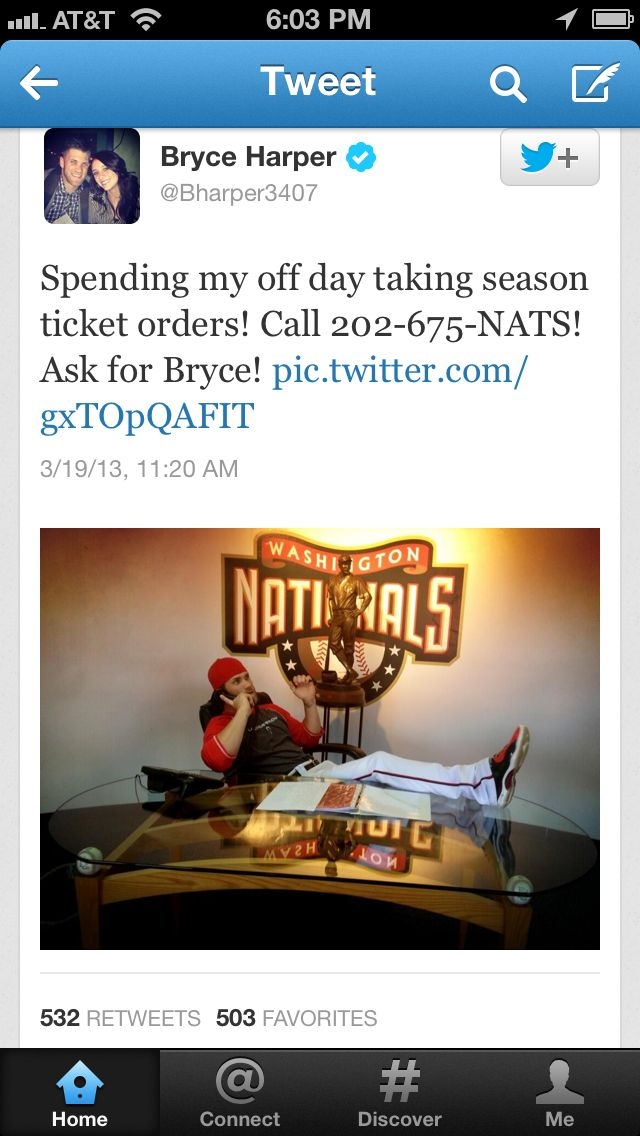 Bryce Harper May Have Achieved An ROI For Twitter Today