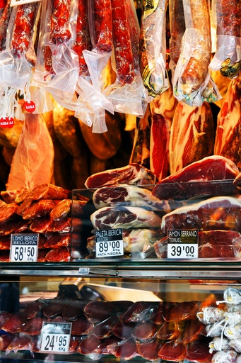 Meat lovers. La Boquería, Barcelona: Ladylike