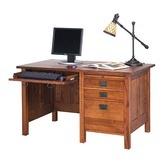 "Found it at Wayfair - Craftsman Home Office 53.5"" W Single Pedestal Computer Desk"
