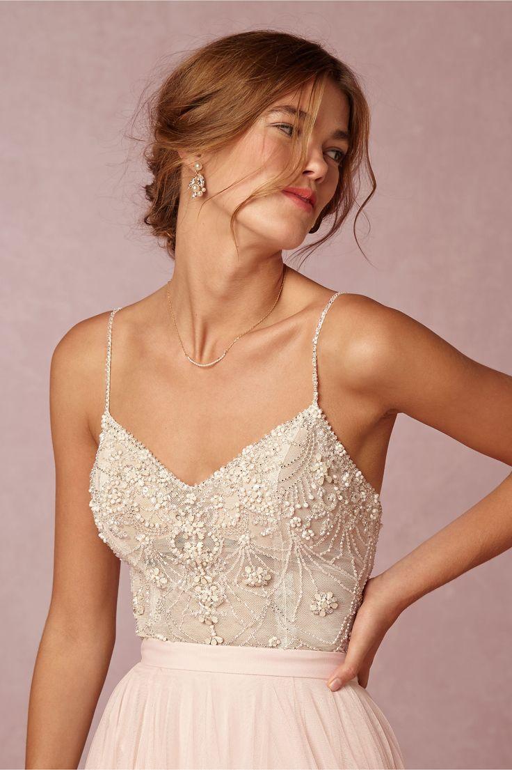 BHLDN Ella Bodysuit & Amora Skirt in  Bride Bridal Separates at BHLDN